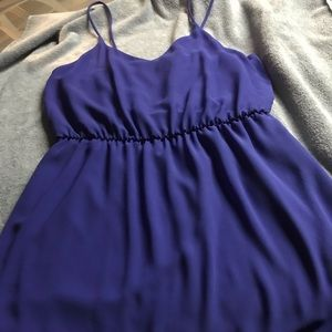 Purple/blue shirt dress